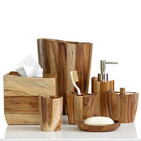 Kassatex Bath Accessories, Acacia Collection - Bathroom Accessories - Bed & Bath - Macy's