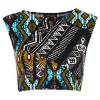 Tribal Aztec Crop Tee - New In This Week  - New In