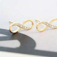 Studded Infinity Earring from StarStream