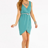 Wrap Tulip Tank Dress $39