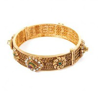 Paisley Round Bangle - INDIAN BAZAAR Paisley Round Bangle