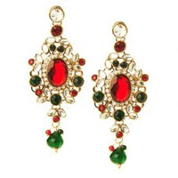 Veena Earrings  - INDIAN BAZAAR Veena Earrings