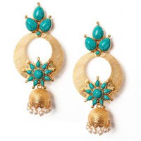 Adrika Circle Earrings - INDIAN BAZAAR Adrika Circle Earrings