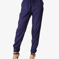 Cuffed Drawstring Pants