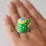 Kawaii Miniature Food Rings - Mini Muffin in a Green Mug
