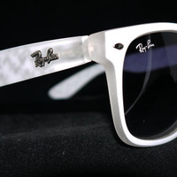 Rare Print Wayfarer Sunglasses Fancy Color White from Eye fashion