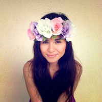 Flower Crown Headband Coachella Music by RazzleberryPuffett