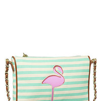 BetseyJohnson.com - CUT IT OUT CROSSBODY GREEN