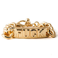 *Accessories Boutique The Fuck Bracelet in Gold : Karmaloop.com - Global Concrete Culture