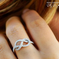 Infinity Knot Diamond Ring - lolobu