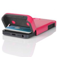INCIPIO STASHBACK Hybrid Case w/ Credit Card Slot IPH-848 (Pink/Gray) for Apple iPhone 5: Cell Phones &amp; Accessories