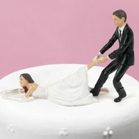 Reluctant Bride - Cake Topper