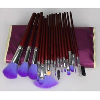 16pc Professional Cosmetic Makeup Make up Brush Brushes Set Kit With Purple Bag Case: Beauty