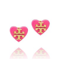TILSIM LOGO HEART STUD EARRING