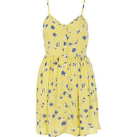 Yellow Chelsea girl button through cami dress