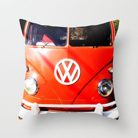 VW California Cruising Throw Pillow by Shawn Terry King