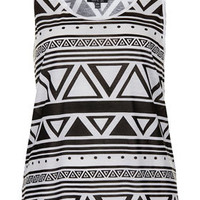 Mono Aztec Vest - New In This Week  - New In