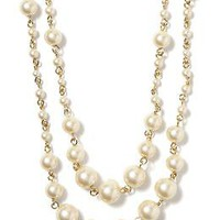 Pearl Long Layer Necklace | Banana Republic
