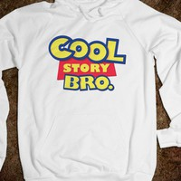 Cool Story Bro Hoodie - His Princess - Skreened T-shirts, Organic Shirts, Hoodies, Kids Tees, Baby One-Pieces and Tote Bags