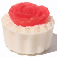 Red Rose Cupcake Glycerin Soap Mother's Day Gift White Soapcake