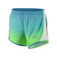 "Nike 3.5"" Tempo Graphic Girls' Running Shorts - Poison Green"