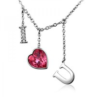 I Love U Necklace with SWAROVSKI ELEMENTS Design