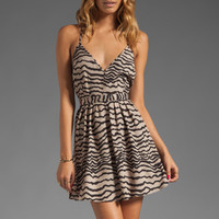 Capulet Criss Cross Dress in Animal Stripe from REVOLVEclothing.com