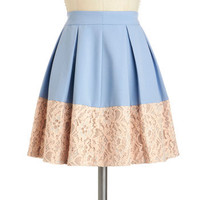 Sky-Hyacinth Skirt | Mod Retro Vintage Skirts | ModCloth.com