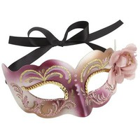 Pink Flower Italian Mask