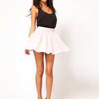 ASOS Skater Skirt in Mesh at asos.com
