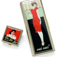 OO LA LA PILL BOX & OUI OUI TAMPON CASE | Vintage French Case | UncommonGoods