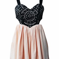 Cutout Spring Dresses - Pink