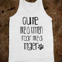 Cute like a kitten tank