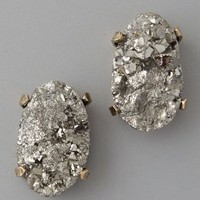 Citrine by the Stones Pyrite Post Earrings | SHOPBOP