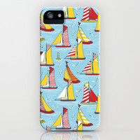 seagulls and sails iPhone Case by Sharon Turner