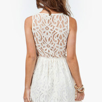 A'GACI Crochet Lace Sundress - DRESSES