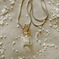 Bottle necklace. Egyptian scented gardenia in a bottle necklace.