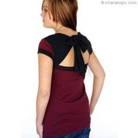 Butterfly Back Top - Burgundy