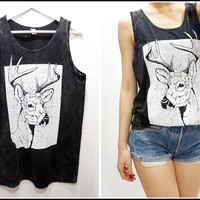 Deer Printed Tank Top Dress