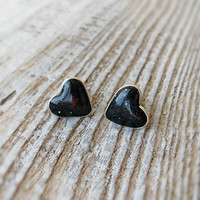 Space Heart jewelry Galaxy tiny Hearts stud Earrings