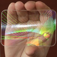 "5 ID Cards Security Hologram Overlay Stickers with Micro Secure Technology SHID-09 ""Secure-Secure"""