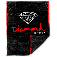 Diamond Supply OG Black &amp; Red Blanket