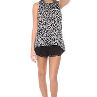 The Crooks and Castles Tank Endangered Scoop Neck Tee in Cheetah