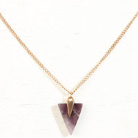 Stone Triangle Necklace at Urban Outfitters