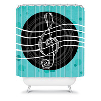 DENY Designs Home Accessories | Lisa Argyropoulos Solo Aquatic Blues Shower Curtain