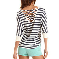 Crisscross Back French Terry Sweater: Charlotte Russe