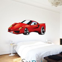 Vinyl Wall Decal Sticker Ferrari Car Color 24inX55in item JH254s | stickerbrand - Housewares on ArtFire