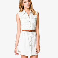 Sleeveless Light Denim Shirtdress