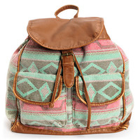 Marais Blanket Tribal Print Brown Backpack