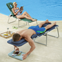 face down lounge chairs at Brookstone—Buy Now!